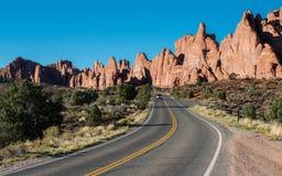 välva sig nationalparken utah Arkivfoto
