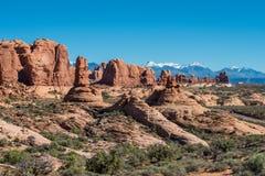 välva sig nationalparken utah Royaltyfri Bild