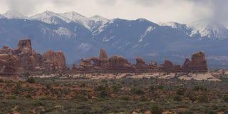välva sig nationalparken utah Royaltyfri Fotografi