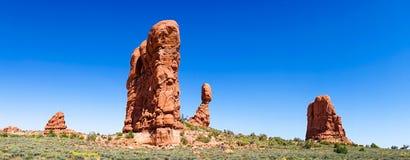 Välva sig nationalparken, Utah, USA Arkivfoton