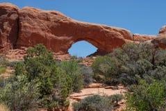 välva sig nationalparkfönstret Royaltyfri Bild