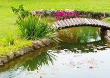 välvd broträdgård Royaltyfri Fotografi