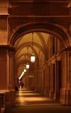 Välvd historisk passage i Wien Fotografering för Bildbyråer