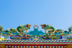 Välvd ingång av den kinesiska relikskrin Arkivfoton