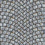 Välvd kullerstentrottoartextur 038 Royaltyfri Fotografi