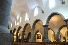 Välvd sida av kapellet på abbotskloster av St Maurice Royaltyfri Fotografi