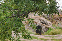 Välvda dörrar av fästningen Akkerman i Ukraina Arkivbilder