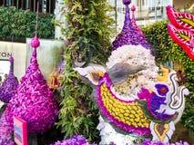 Välvda orkidédörrar i siamparagon Royaltyfria Bilder