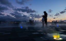 Vän i Kwun Tong Promenade royaltyfria foton