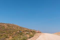 Vänd-av som ska inkvarteras upptill av det Grootberg passerandet Arkivbild