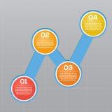 Vänd-baserade informationsdiagram, indikatorer för tillväxtdiagram Arkivbild