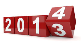 Vänd för år 2013 till året 2014 Arkivbild