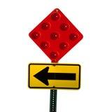 vänd för teckenstoppgata fotografering för bildbyråer