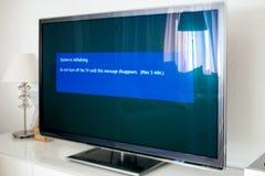 Vänd inte tv:n av under uppdatering Royaltyfria Bilder
