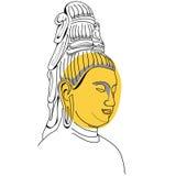 Vända mot av Buddha vektor illustrationer