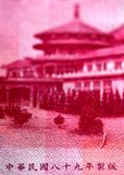 Vända om av dollarräkning för 100 nya Taiwan arkivfoto