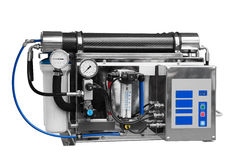Vända om industriellt rent systemvatten royaltyfria bilder