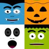 vänder halloween mot stock illustrationer