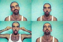 vänder roligt mot fotografering för bildbyråer
