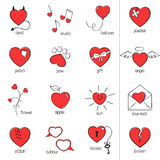 vänder slags röda leenden för hjärtasymboler mot Fotografering för Bildbyråer