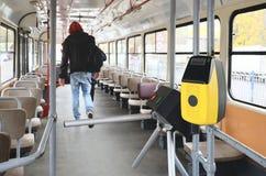 Vändkors i bussen Fotografering för Bildbyråer