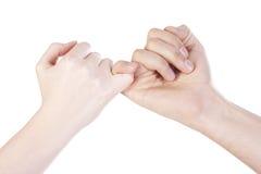 vänhandskakning Fotografering för Bildbyråer
