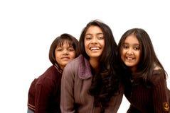vänindier tre Royaltyfri Fotografi