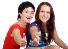 vänkvinnor Fotografering för Bildbyråer