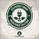 Vänlig energistämpel för alternativ eco Arkivfoton