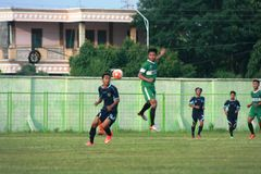 Vänlig fotbollsmatch Arkivfoton