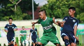 Vänlig fotbollsmatch Royaltyfria Bilder