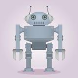 Vänlig grå robot royaltyfri illustrationer