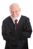 Vänlig kompetent domare arkivbild