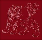 Vänlig lion Arkivbild