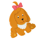 Vänlig lycklig vektorhund Royaltyfria Foton