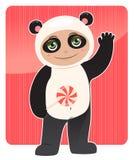 vänlig panda Royaltyfria Foton