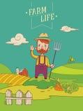 Vänlig sund bonde Arkivbilder