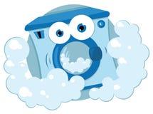 Vänlig tvättmaskin stock illustrationer