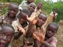 Vänliga Burundi ungar Fotografering för Bildbyråer