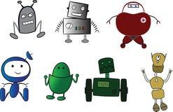 Vänliga robotar Arkivfoto
