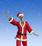 vänligt santa skelett Royaltyfri Foto