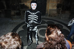 Vänligt skelett Arkivbilder