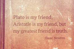 Vännen är sanning Newton arkivbilder