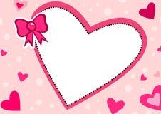 vänner för ramhjärtaförälskelse Arkivfoto