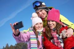Vänner i wintertime Royaltyfria Foton