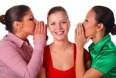 vänner lyckliga tre arkivbild