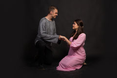 Vänner man och kvinnan Arkivfoton