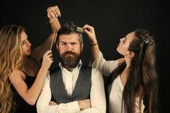 Vänner på frisörsalongen, lgbt royaltyfri foto