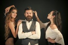 Vänner på frisörsalongen, lgbt royaltyfri fotografi