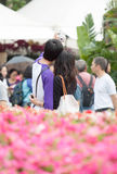 Vänner på Hong Kong Flower Show Royaltyfria Bilder